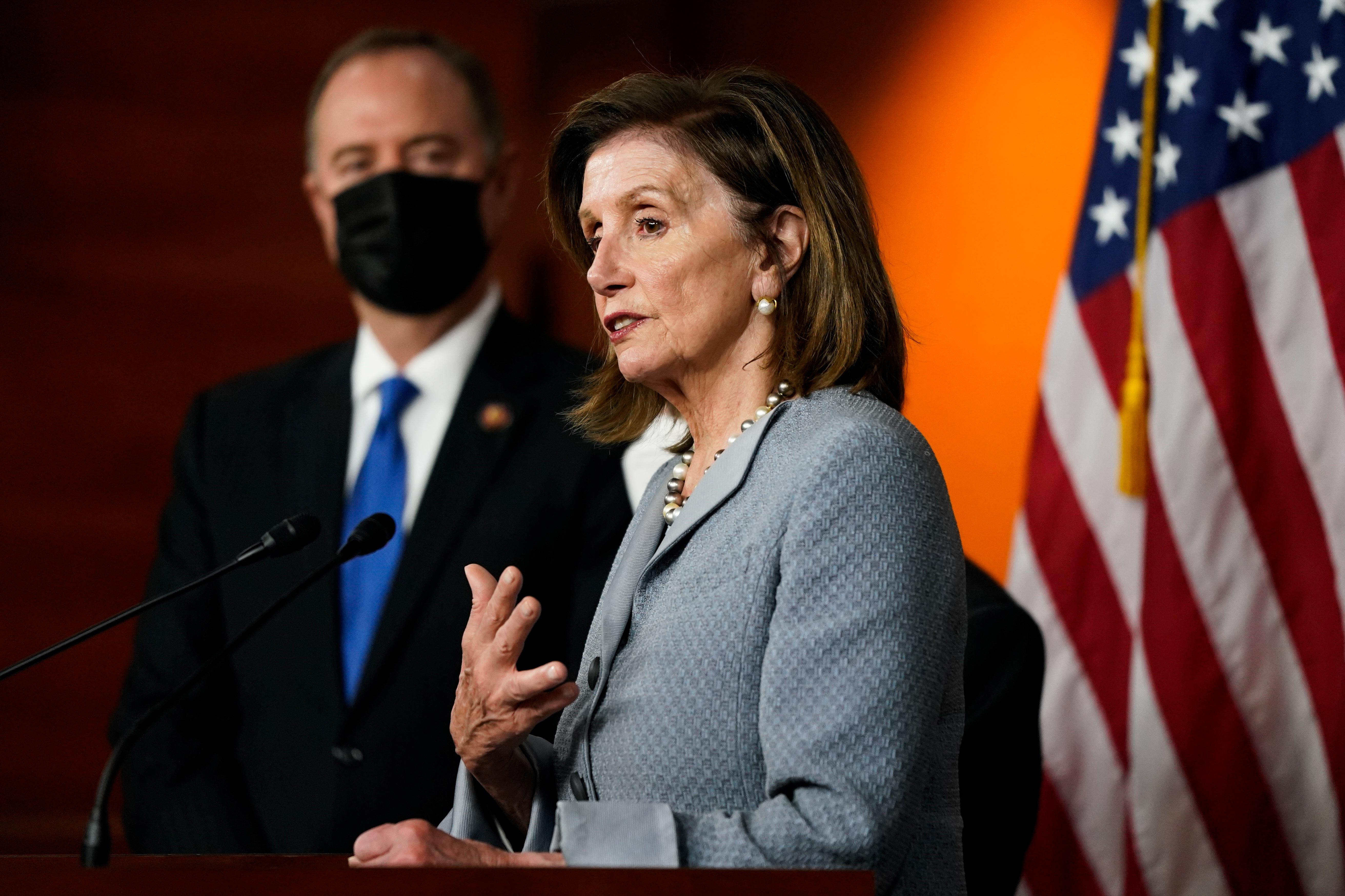 House Speaker Nancy Pelosi, September 21, 2021. REUTERS/Elizabeth Frantz