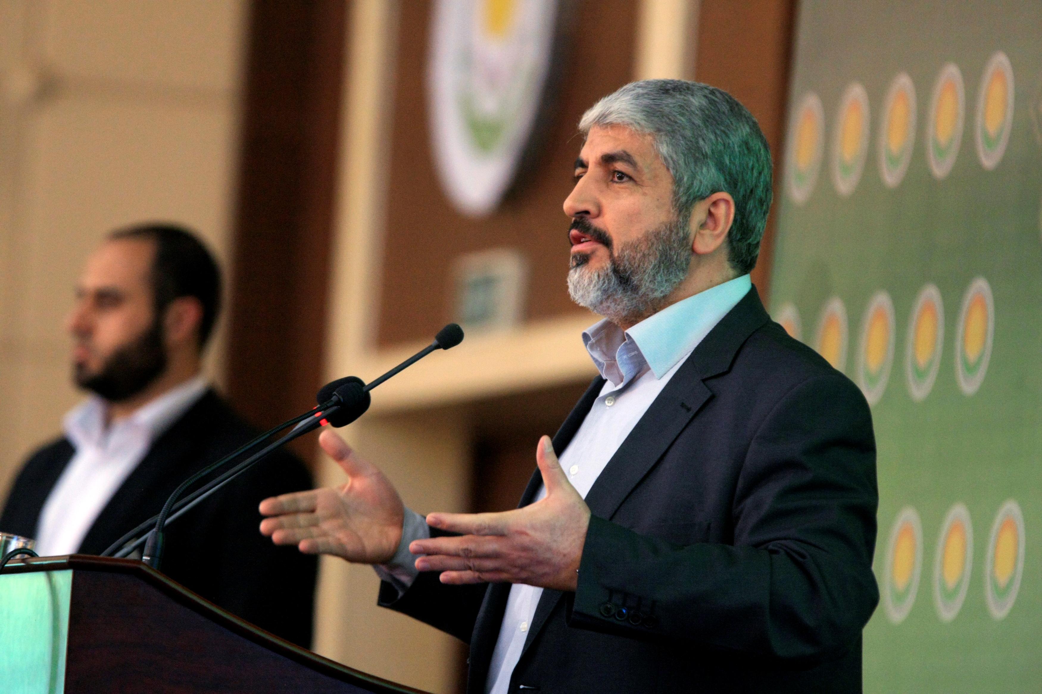 Hamas Leader Khaled Meshaal addresses the 8th General Conference of Sudanese Islamic Movement in Khartoum November 15, 2012. REUTERS/Mohamed Nureldin Abdallah/File Photo