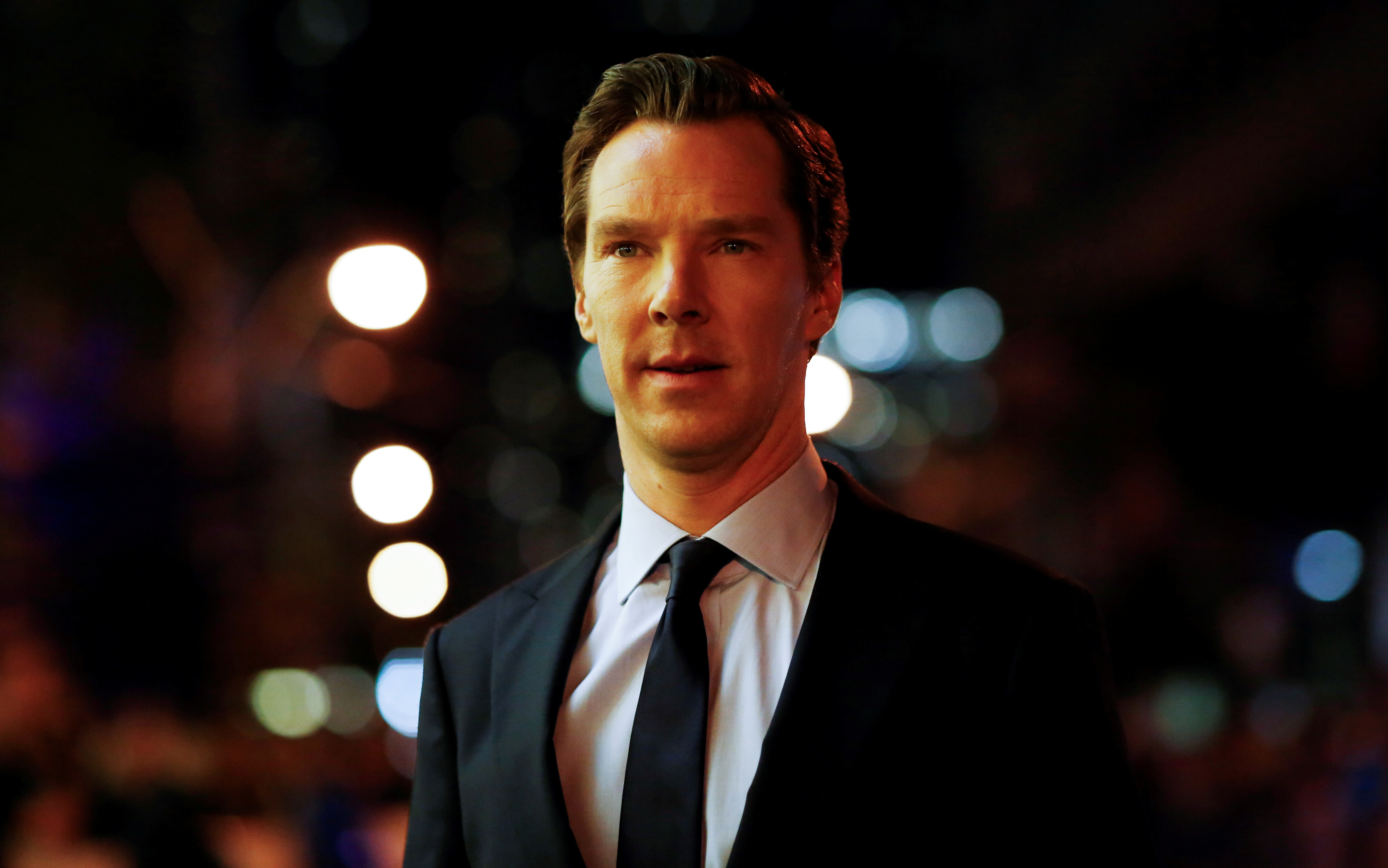 Actor Benedict Cumberbatch arrives on the red carpet for the film