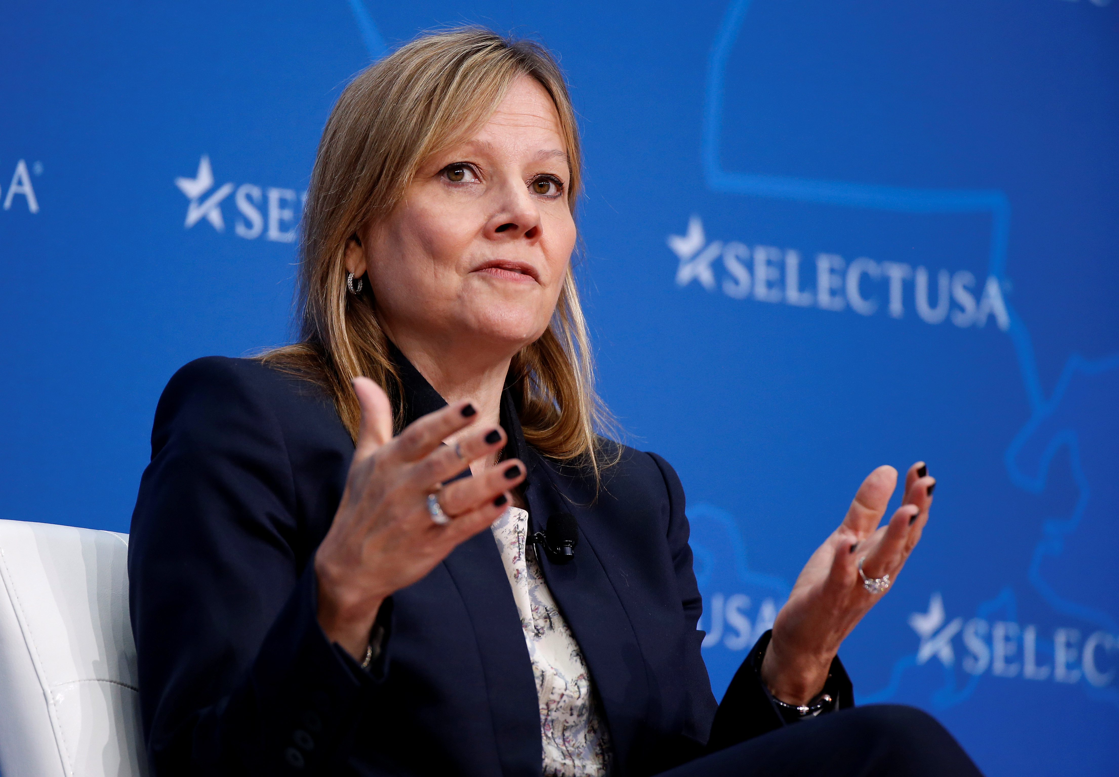 Mary Barra, CEO of General Motors, speaks at the 2017 SelectUSA Investment Summit in Oxon Hill, Maryland, June 19, 2017.