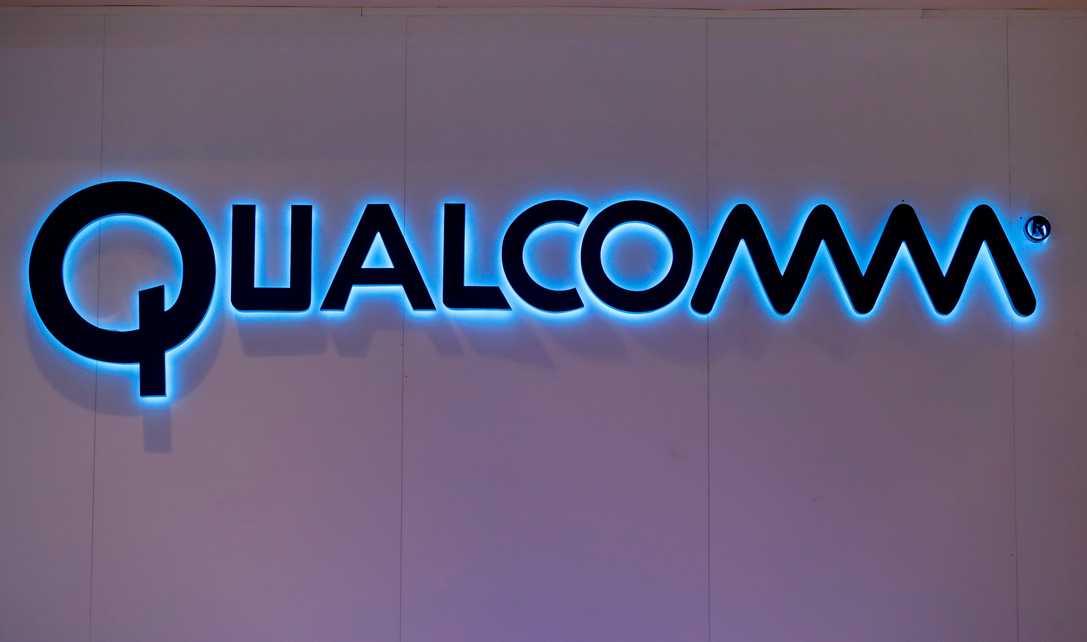 Qualcomm's logo is seen during Mobile World Congress in Barcelona, Spain, February 28, 2017. REUTERS/Eric Gaillard/File Photo