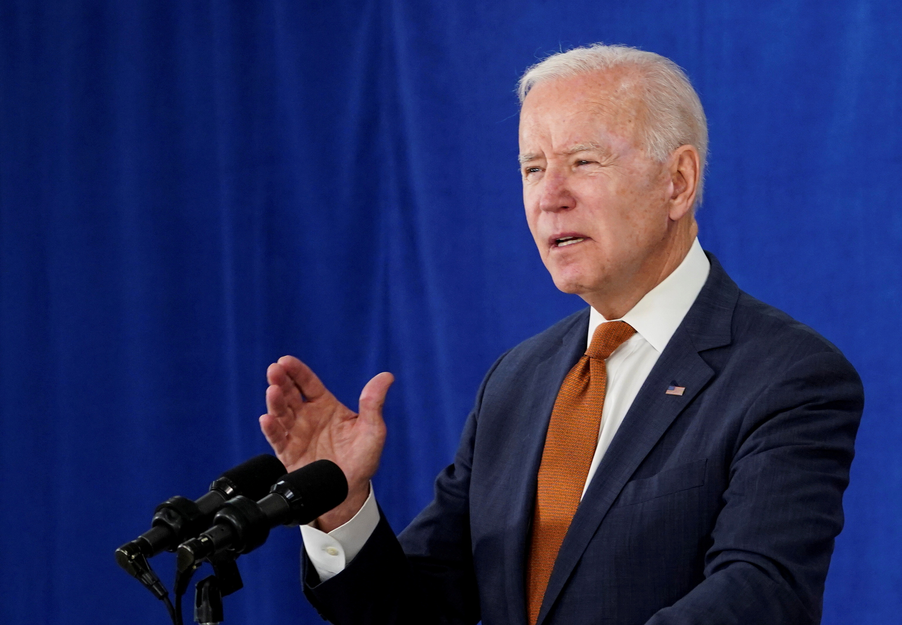 U.S. President Joe Biden delivers remarks on the May jobs report at the Rehoboth Beach Convention Center in Rehoboth Beach, Delaware, U.S., June 4, 2021. REUTERS/Kevin Lamarque