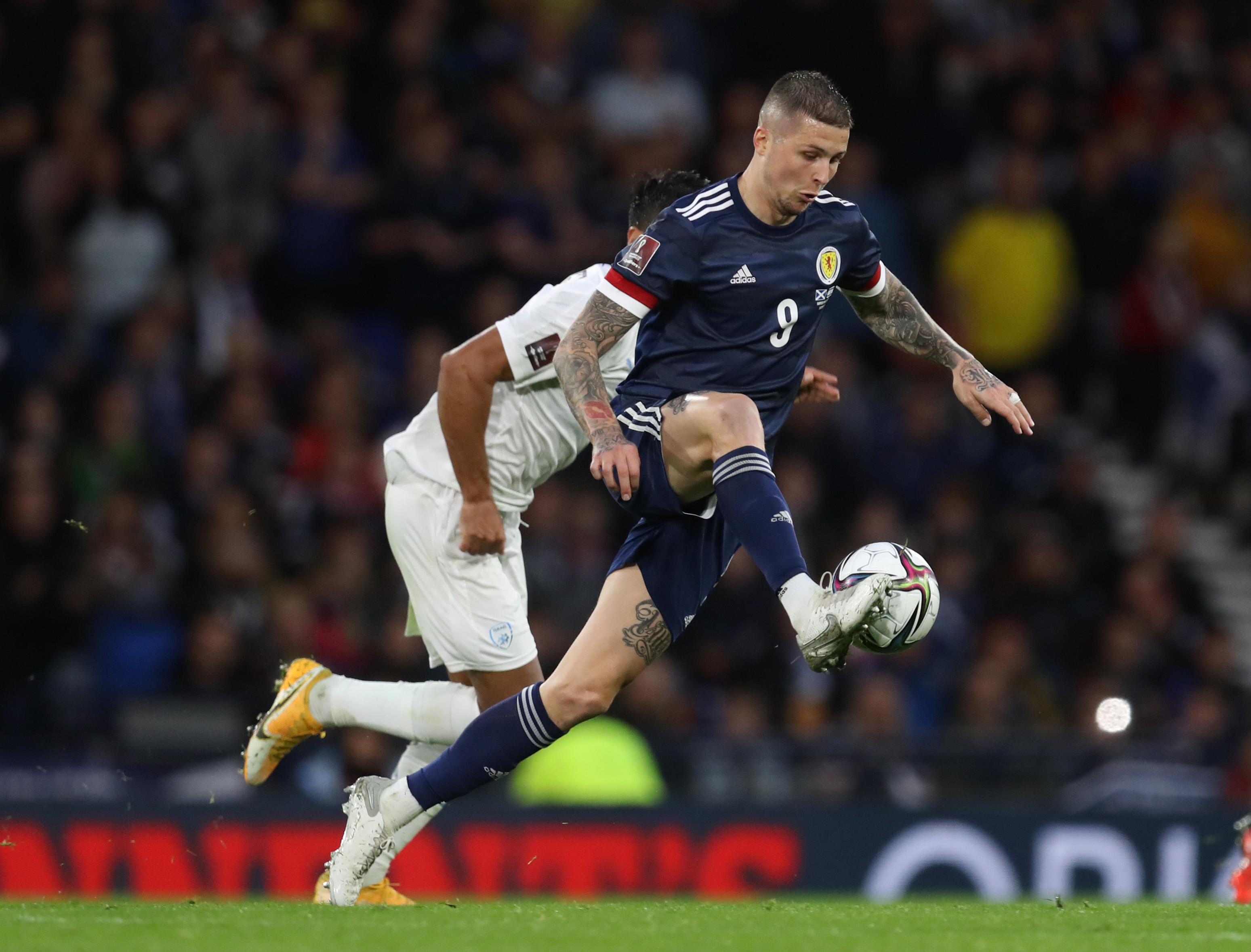Soccer Football - World Cup - UEFA Qualifiers - Group F - Scotland v Israel - Hampden Park, Glasgow, Scotland, Britain - October 9, 2021  Scotland's Lyndon Dykes REUTERS/Russell Cheyne