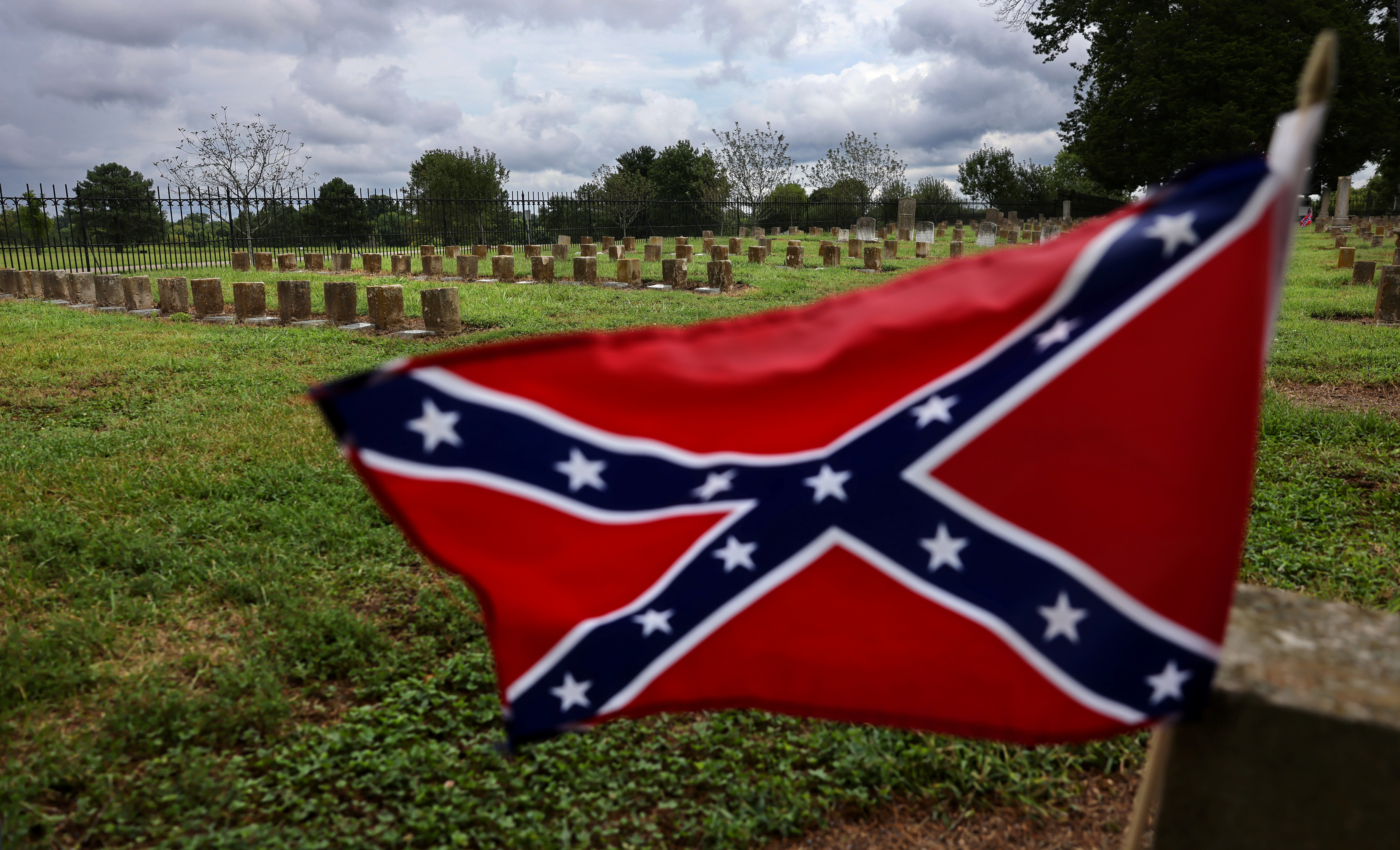 General view of the McGavock Confederate Cemetery on the grounds of the Carnton plantation in Franklin, Tennessee, U.S., August 16, 2021. Picture taken August 16, 2021. REUTERS/Evelyn Hockstein