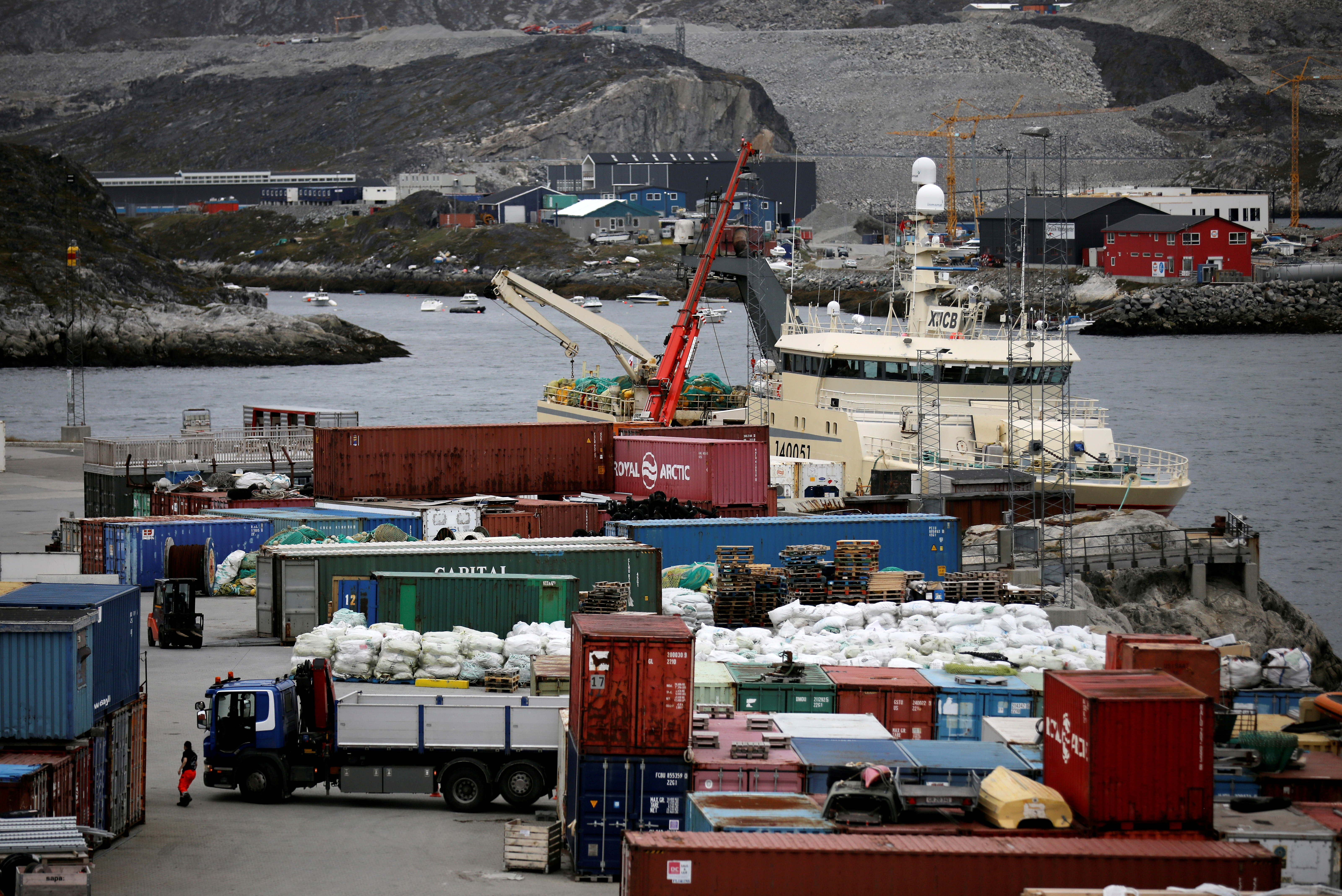 A view of the harbor in Nuuk, Greenland, September 8, 2021. REUTERS/Hannibal Hanschke