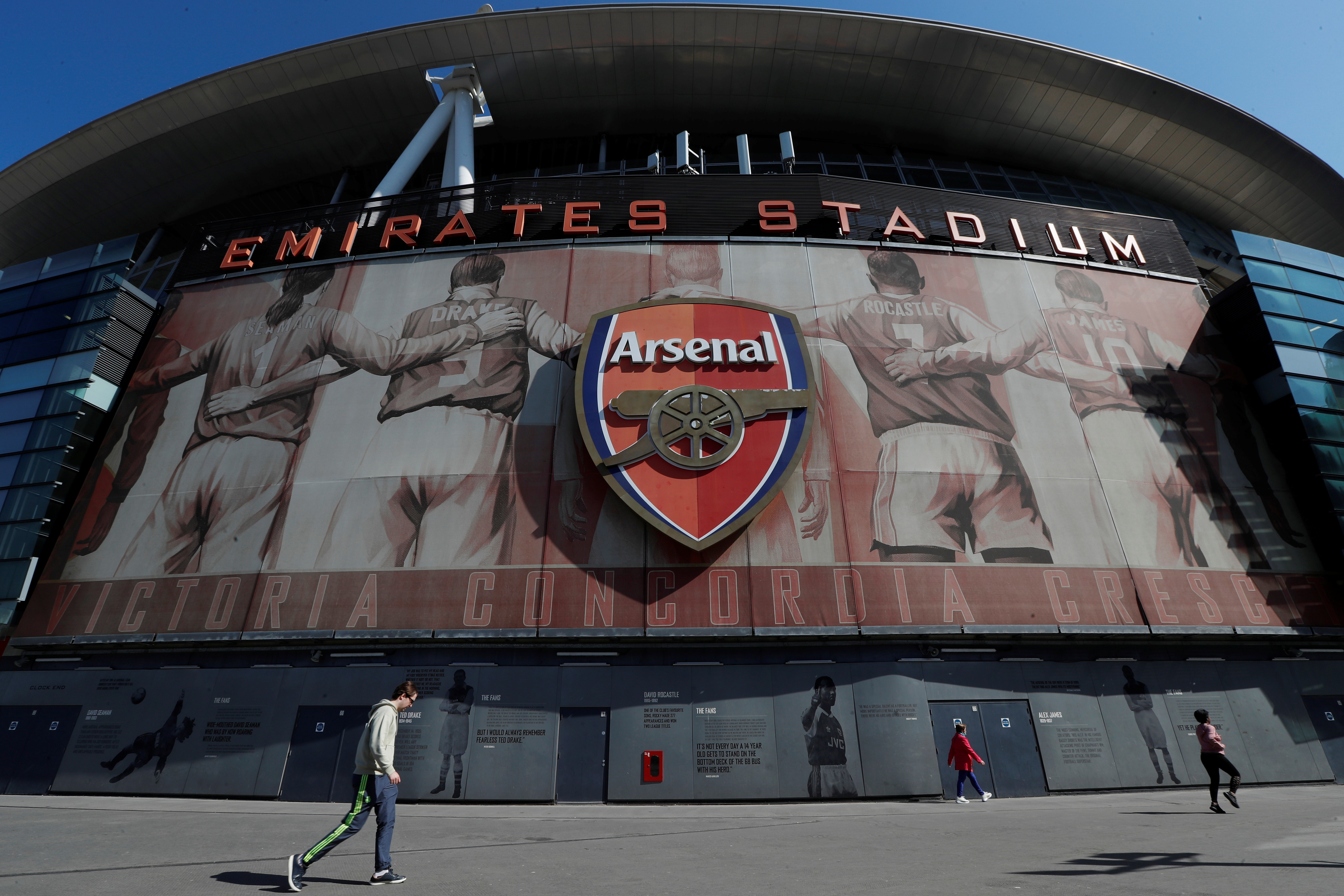 Soccer Football - The Emirates Stadium is seen as twelve of Europe's top football clubs launch a breakaway Super League - London, Britain - April 19, 2021 REUTERS/Paul Childs