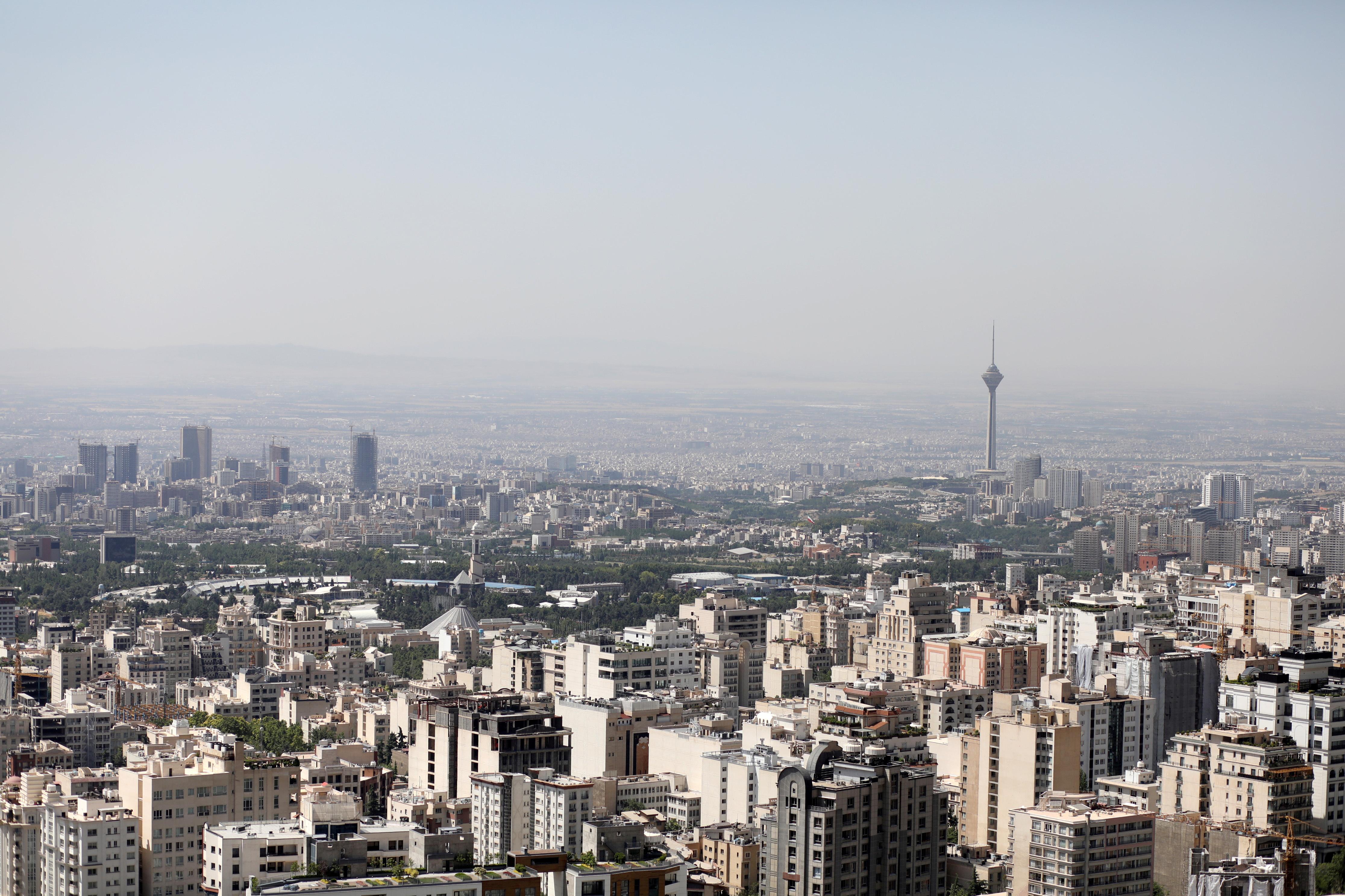A general view of Tehran city, in Tehran, Iran June 12, 2020. Ali Khara/WANA (West Asia News Agency) via REUTERS