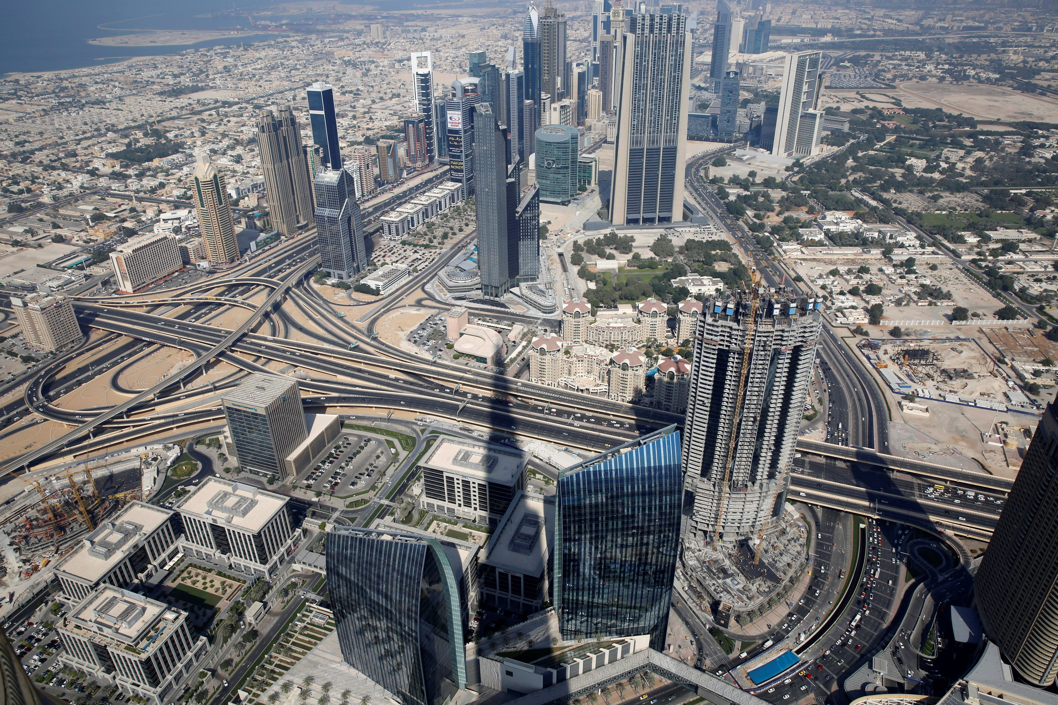 An aerial view of Dubai from Burj Khalifa, the tallest building in the world, in Dubai November 19, 2014. REUTERS/Ahmed Jadallah