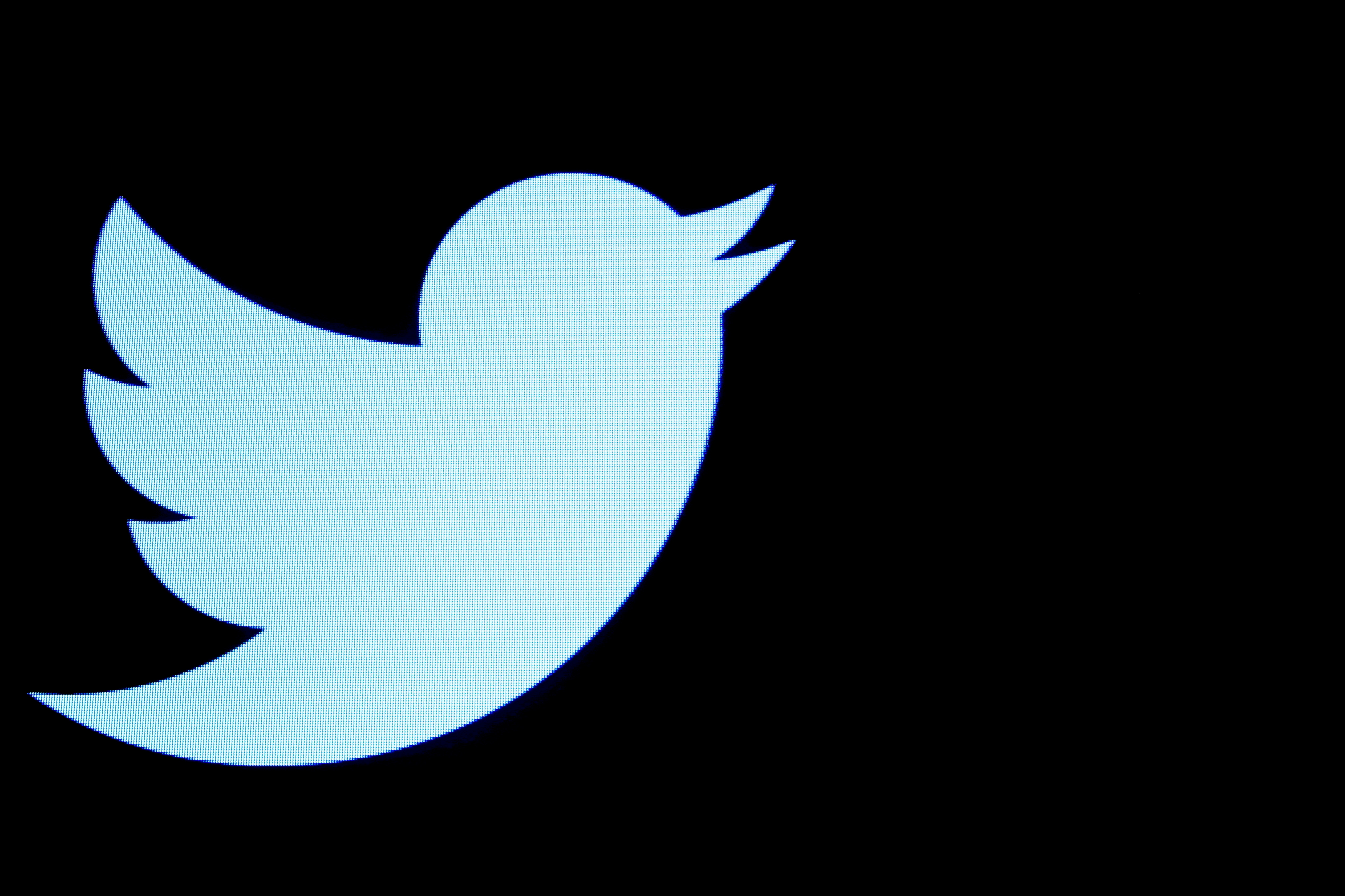 The Twitter logo is displayed on a screen on the floor of the New York Stock Exchange (NYSE) in New York City, U.S., September 28, 2016. REUTERS/Brendan McDermid/File Photo